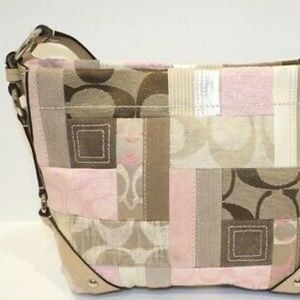 Coach Patchwork Carly Pink Tote
